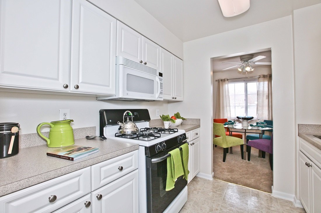 Kitchen in Fairfax Apartment at Fairfax Square