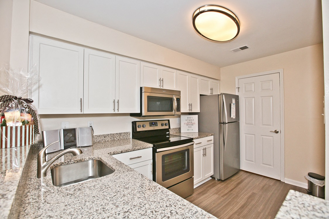 Renovated Kitchen Featuring Stainless Steel Appliances