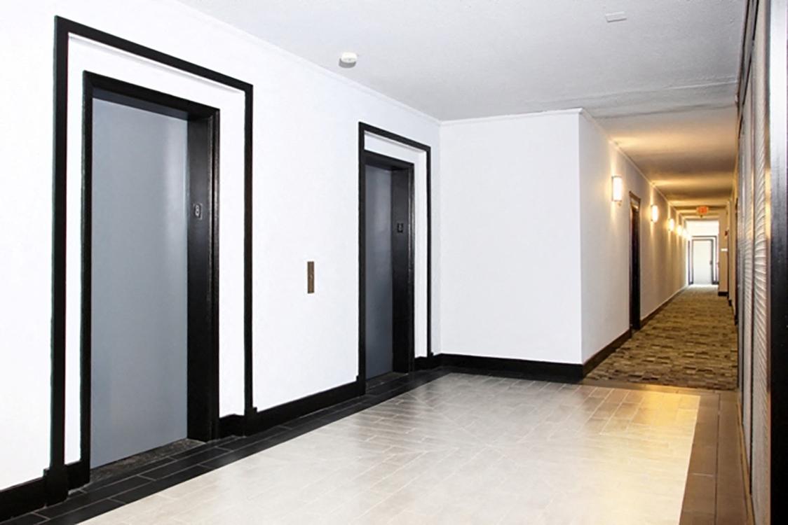 View of Elevators in Columbia Uptown