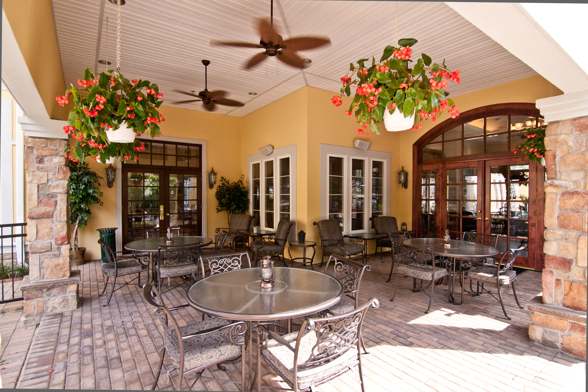 Outdoor Patios with Grills and Kitchens at Broadlands