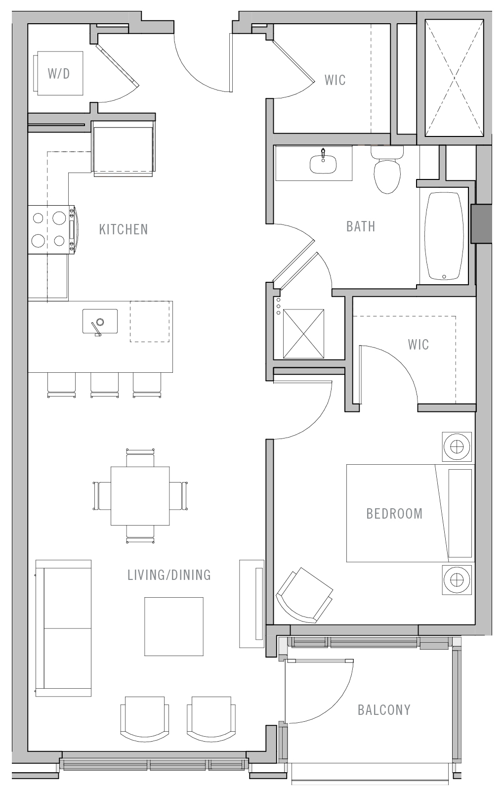 Park Fifth Tower 1 BD-B5 Floorplan