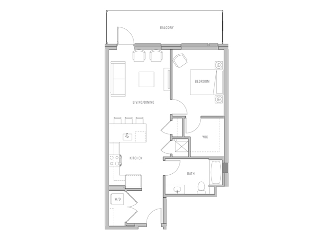 Park Fifth Tower 1 BD-G2 Floorplan